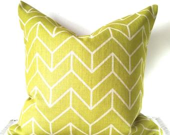 Green geometric pillow cover green geometric cushion cover 16x16''