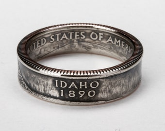 Idaho State Quarter Coin Ring