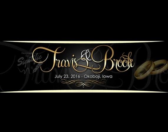 Wedding logo design, custom name design for weddings in your favorite colors, cursive signature logo design for events, OOAK logo, FREE PSD