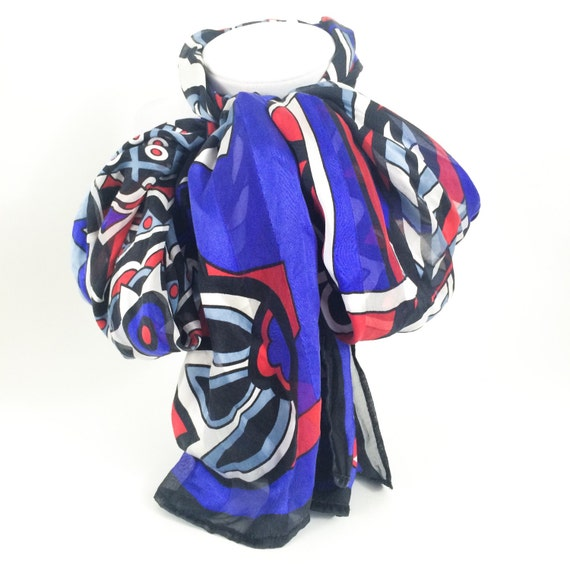 items similar to bob mackie wearable silk scarf