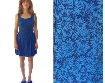 90's grunge floral dress