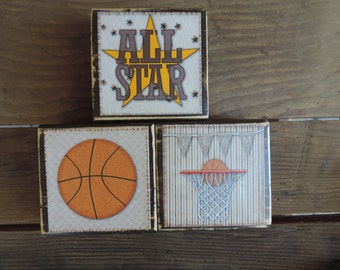 Basketball Wood Blocks