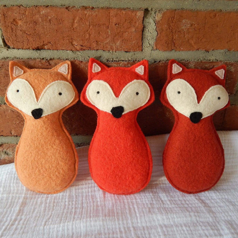 Plush Fox Toy Stuffed Animal Eco Friendly by LupineAndLily ...