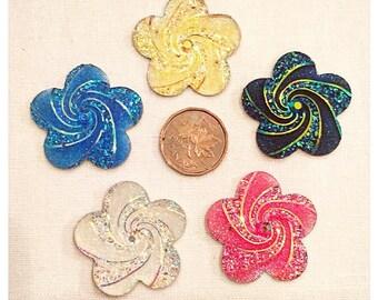Flower Swirls 30mm