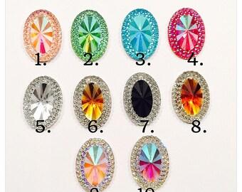 Diamond bezel ovals