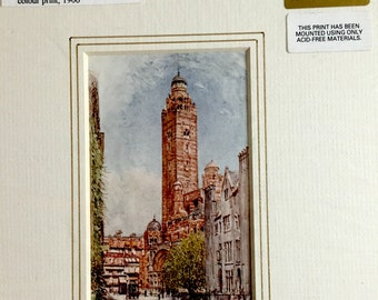 Antique Westminster Cathedral Print (1906)