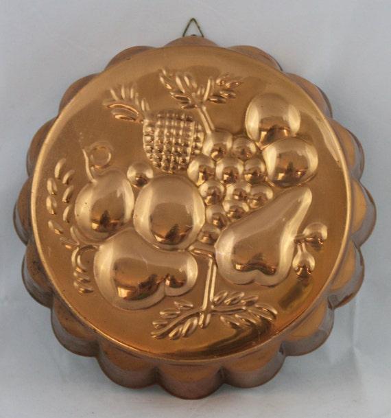 Rustic Copper Pail Pendant Light By Cre8iveconcrete On Etsy: Vintage Copper Round Decorative Fruit Assortment Hanging Mold
