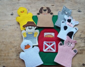Old MacDonald Finger Puppets Quiet Busy Book  page : Everyones favorite Nursery song. Great addition to your childs Busy Book.