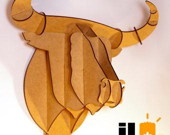 Wood Bull Head