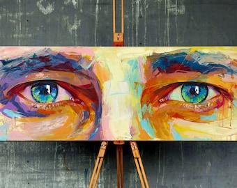 Original Acrylic Art · Eyes · Custom Portrait