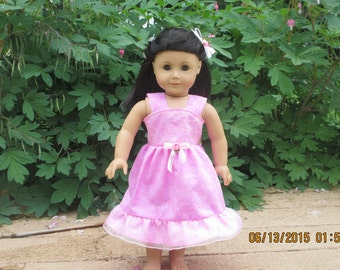 American girl doll party sundress with hair bow