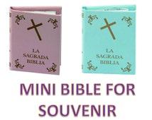 Mini Bible For Souvenirs for Baptis,  Bridal, Communion / Mini Biblia para Recuerdo Bautizo, Primera comunion o boda.