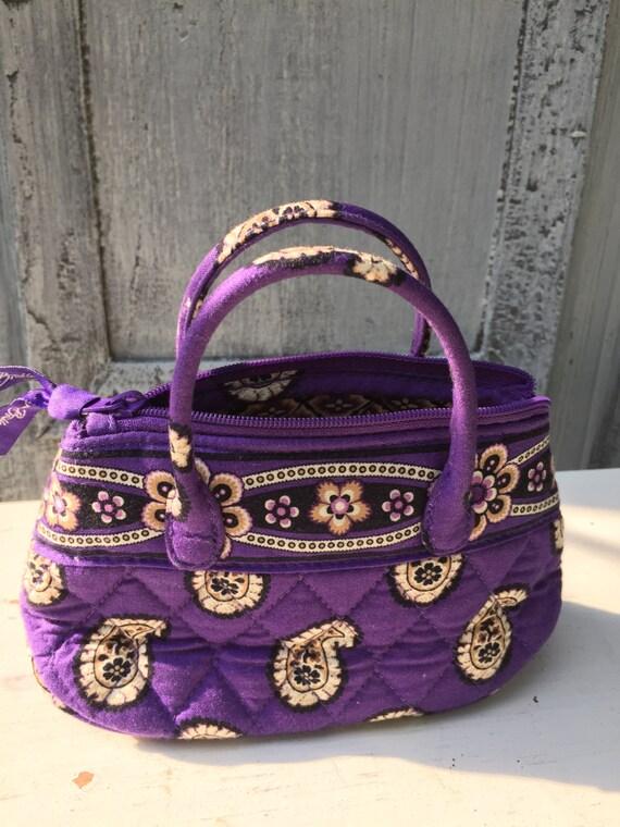 Vintage Mini Vera Bradley Purse Small Fabric Hand Bag