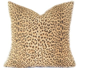 Leopard pillow cover - Brown Beige pillow - Cheetah pillow - Animal print pillow - Safari pillow - Decorative pillow