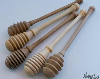 Hand-turned Wooden Honey Dipper
