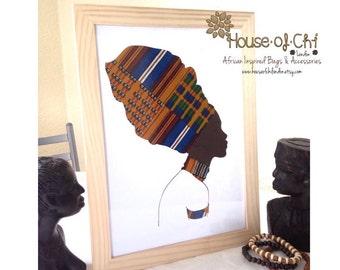 Africa wall Art - Kente Fabric