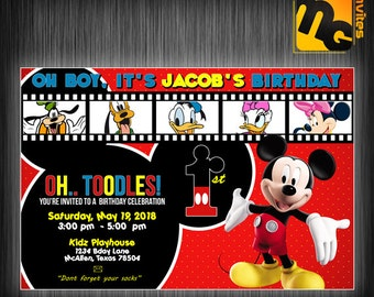 Mickey mouse and friends invite, Mickey mouse and friends invitation, Mickey mouse and friends birthday party