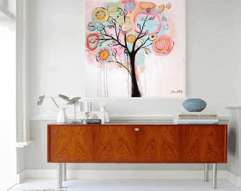 art print  painting   poster  happy tree Painting    from Jolina Anthony