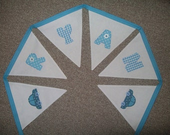 Beautiful Personalised hand made Bunting - Christening, New Baby , Birthday, Decoration- made to order Boy / Girl