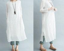 Linen plus size dress – Woman dresses line