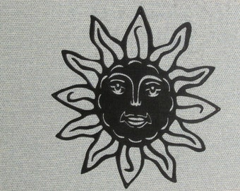 Sun Face Wall Decor Laser Cut Wood Art