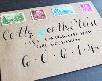 Custom Calligraphy, Wedding Calligraphy Invitation or Save the Date, Envelope Hand Lettering, Envelope Calligraphy