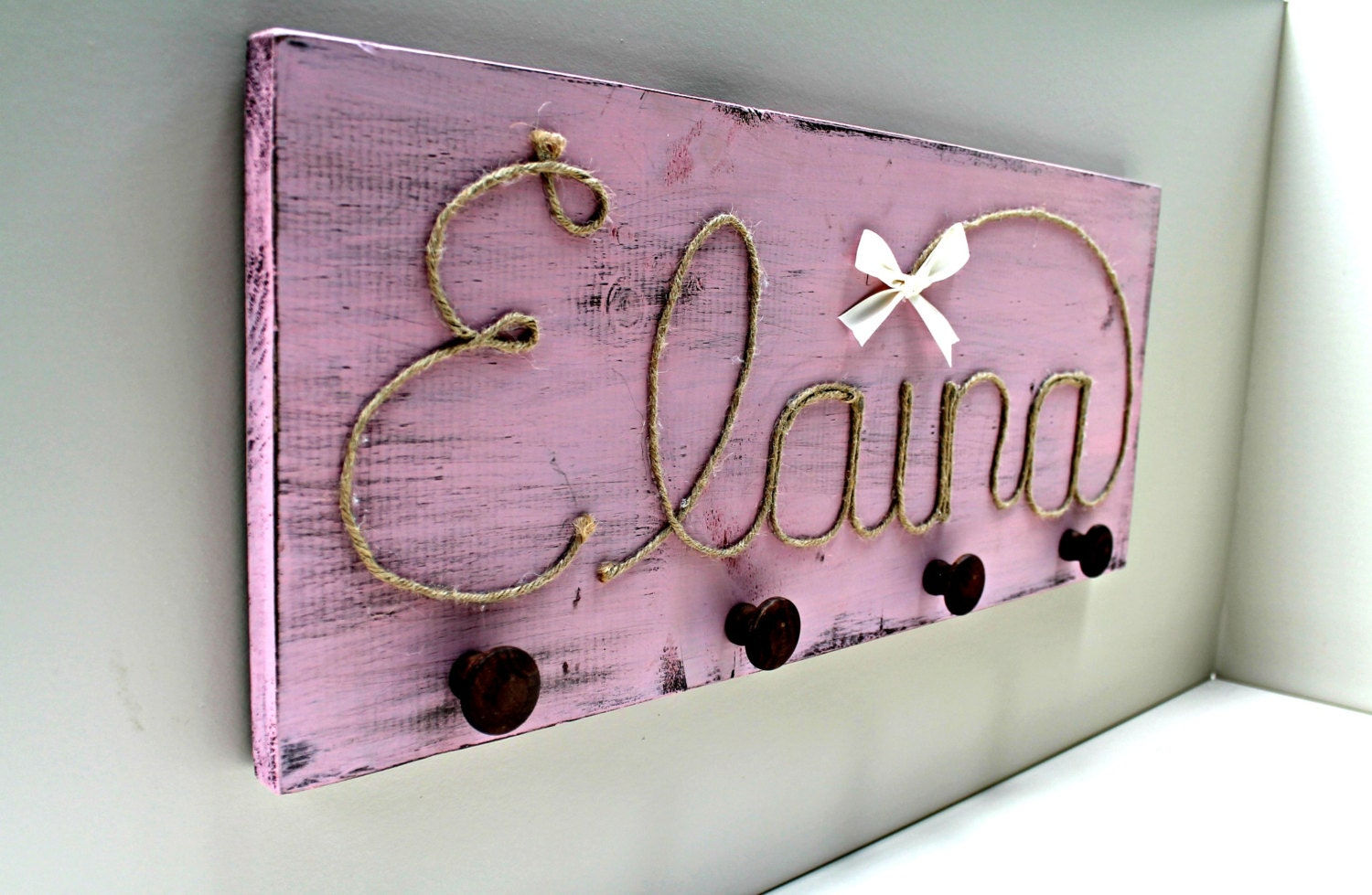 Custom coat rack kids room decor nursery by for Kids room hooks