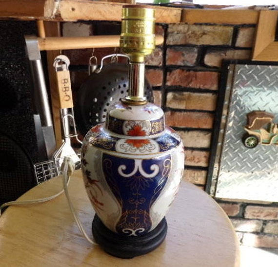 Vintage oriental lamp bedside table lamp home decor gift for Decoration table orientale