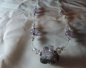Raw Amethyst Rock necklace