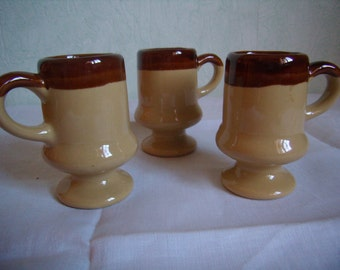 3 cups ceramics for coffee, espresso, tea, cappuccino or hot chocolate