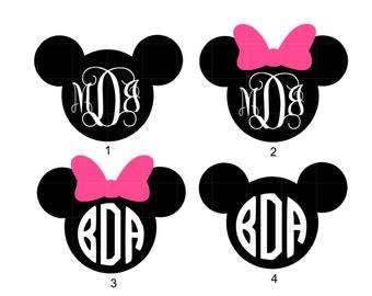 IRON ON Mickey Mouse and Iron On Minnie Mouse on Heat Transfer Vinyl