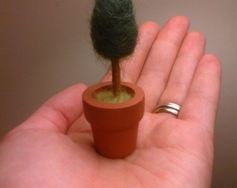 Needle Felted Miniature Tree