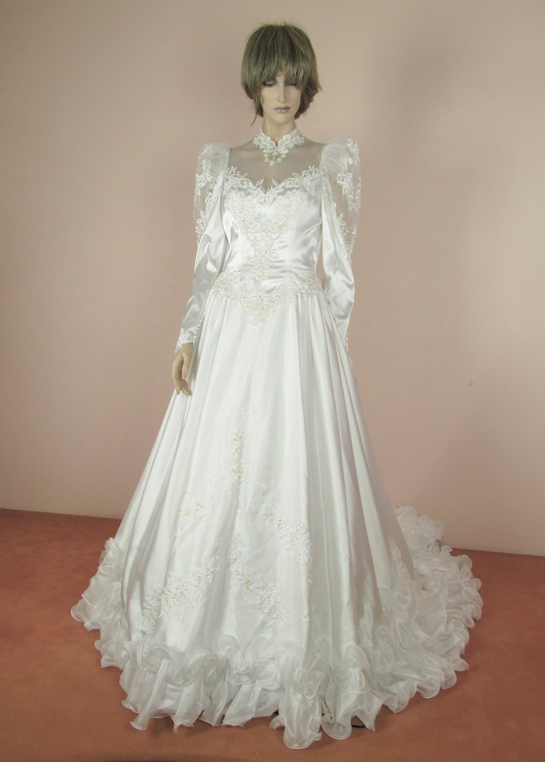 80s Vintage Clothing In The Uk Just Got Easier: White Wedding Dress 80s Vintage Bridal Gown From 1980s