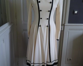 LOUIS FÉRAUD - couture vintage - size 38FR dress