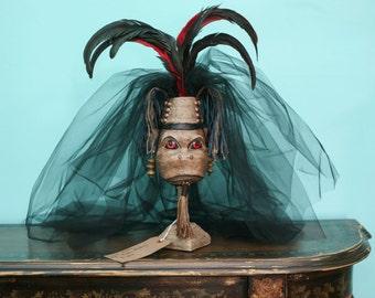Angry Voodoo Monkey Tiki Totem