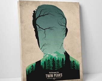 Twin Peaks poster alternative poster canvas art Agent Cooper Poster Fire Walk With Me Welcome to Twin Peaks the owls are not what they seem