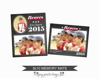 8x10 Memory Mate - Photoshop Template - Team Collage - Scrapbooking Template - MMT01