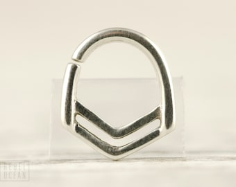 Nose Ring Septum Ring Body Jewelry Sterling Silver Bohemian Fashion Indian Style 14g 16g - SE028R