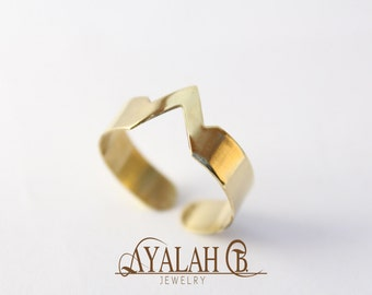 Adjustable Triangle Ring
