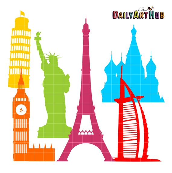 landmarks clip clipart silhouettes famous places place silhouette dailyarthub travel clipground daily digital printable historical items hub cliparts