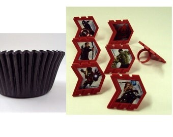 Avengers Rings with Black Baking Cups