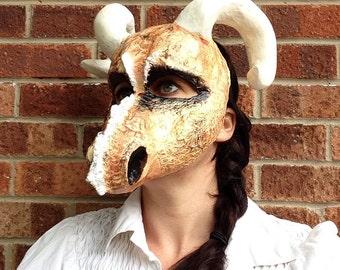 Dragon Mask/ Paper mache dragon mask/ papier mache mask