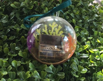 Under the Sea Treasure Chest of Gold Ornament - Summer Ornament - Christmas Ornament
