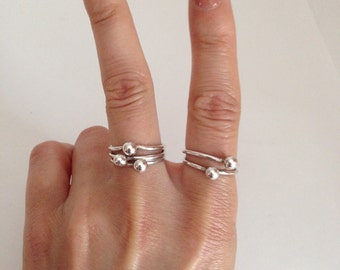 Stacking Rings, Sterling Silver
