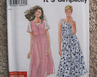 UNCUT Misses Dress - Size XS to XL - Simplicity New Look Pattern 9581