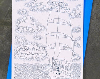 Nautical Fathers day card