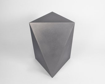 Triangular Antiprism Stool - Handmade Geometric Steel Stool - PrimeForm Furniture - PrimeForm Furniture - Crosstree Seed Products