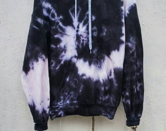 The Black Snake Tie Dye Hoodie, black fashion, indie, grunge