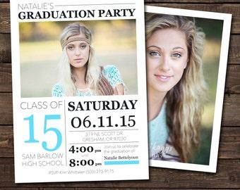 High School Graduation Announcement & Invitation - Photo