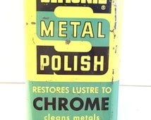 "Antique Metal Polish Cool old find Simoniz Metal Polish, 5x2.5x1.5"" 7.6oz #633"